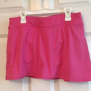 Sweet pink polka dot swim mini bottom